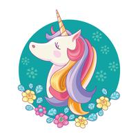 Cute Magic Unicorn vector