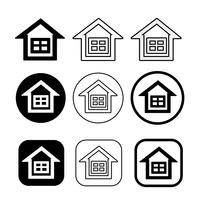 simple house and home icon symbol sign