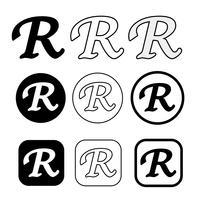 Signe de symbole icône de marque déposée