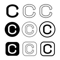 Copyright pictogram symbool teken