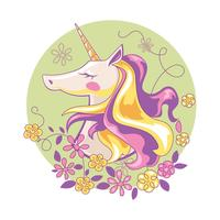 Beautiful Magic Unicorn vector