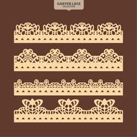 Set Garter Lace Ornament for Embroidery, Cutting Paper and Laser Cut