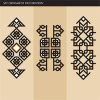Luxus japanische, kalligraphische, aztekische elegante Ornamentlinien
