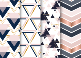 Scandinavian Pattern Set Geometric Triangles vector