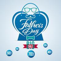 Herzförmige Vatertag Verkauf Banner