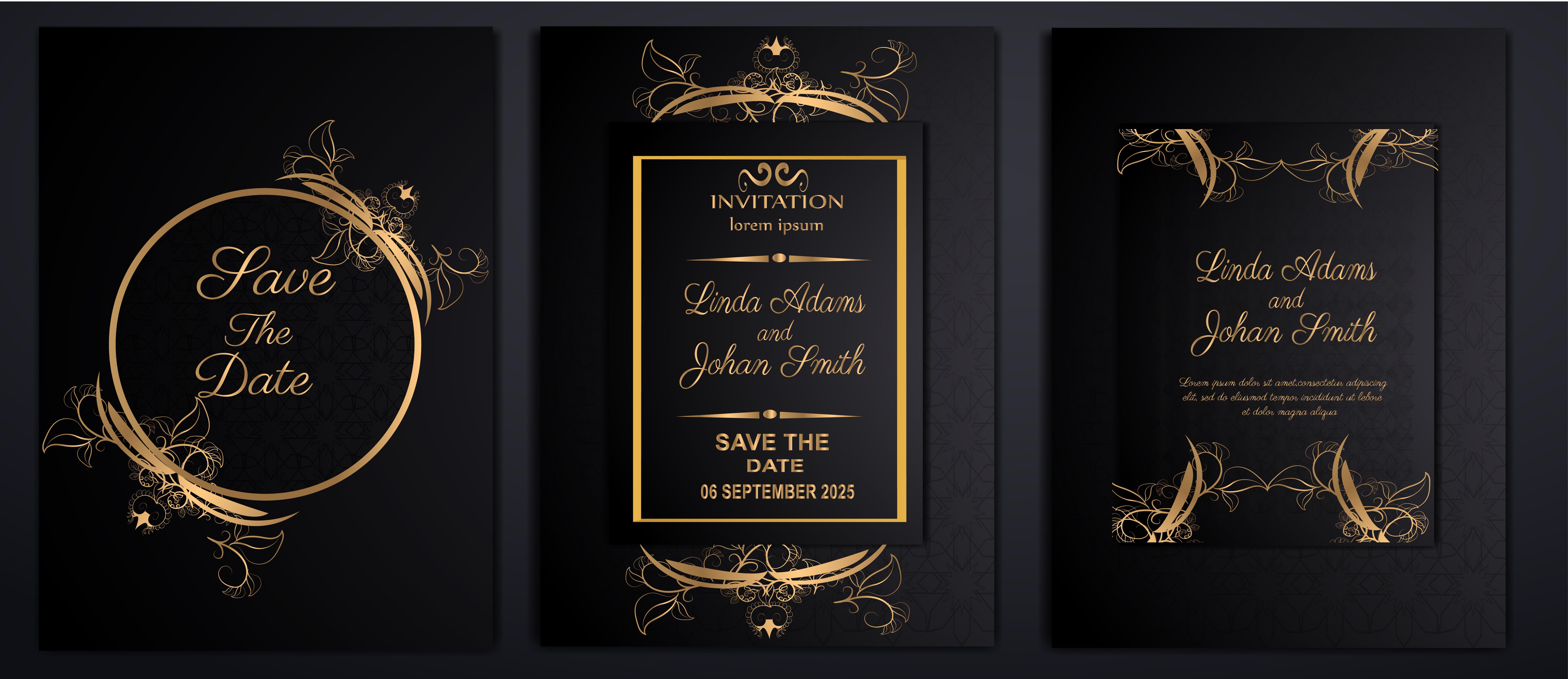 luxury wedding invitation cards - Download Free Vectors, Clipart Graphics &  Vector Art