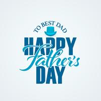 Happy Fathers Day typographic lettering banner