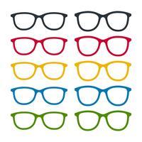 Conjunto de iconos de gafas
