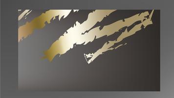 Golden paint smear on dark background