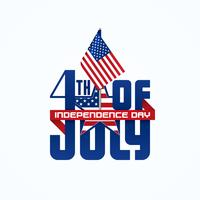 Vierde juli typografisch ontwerp