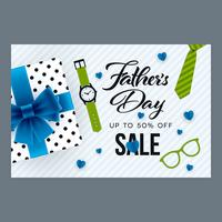 Fathers Day sale horizontal ornate banner