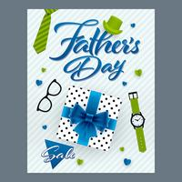 Fathers Day sale vertical ornate banner