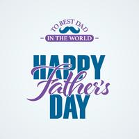 Happy Fathers Day lettering banner