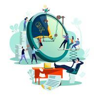 Prazo, vetor de conceito de negócio de gestão de tempo