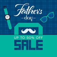 Fathers Day sale square banner