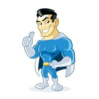 Personnage de dessin animé de super-héros