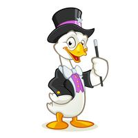 Goose magician cartoon character