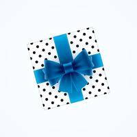 Geschenkbox mit blauer Schleife