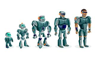 Evolution of robots, technological progress