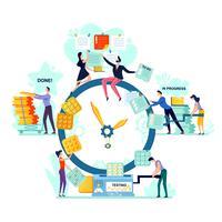 Deadline, time management business concept vector