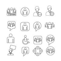mensen icon set illustratie