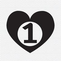 icono de corazón número uno