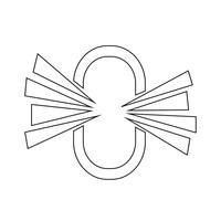 rimuova l'illustrazione del segno dell'icona del collegamento