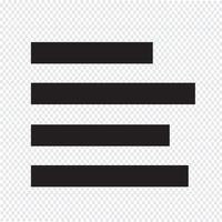 alinear el icono de signo de la izquierda ilustración