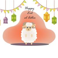 eid mubarak character illustration
