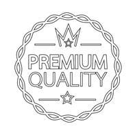 Premium-Qualität-Abzeichen-Symbol