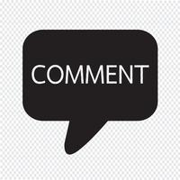 comments icon sign Illustration vector