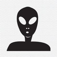 Alien ikon symbol tecken