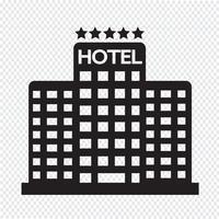 Hotel de cinco estrellas icono