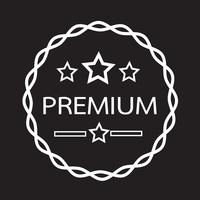 Vintage premium label pictogram