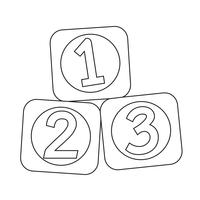 123 Blocks icon vector
