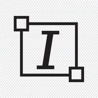 Icono de letra de fuente de texto en cursiva