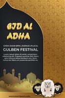 cartel de diseño moderno eid plantilla de mubarak