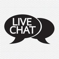 Live chat speech bubble icon