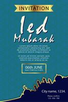 poster design moderno eid modello di mubarak