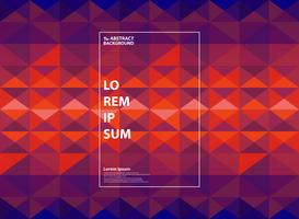 Fondo geométrico púrpura y anaranjado abstracto del gradiente. Se puede utilizar para obras de arte en color, diseño moderno, informe anual, libro.