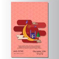 modern täcker design Affisch eid mubarak ilustration