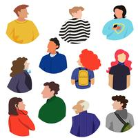 Collection of people upperbodies in a bold modern style