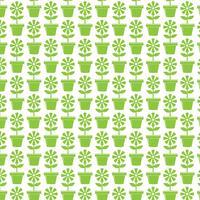 Fondo del patrón Icono de maceta de flores
