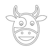 Cow head icon