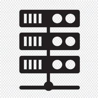Icona del server del computer
