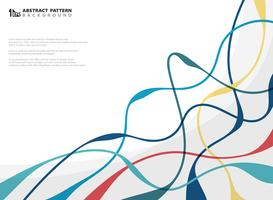 Abstract of colorful wavy line geometric business presentation background. You can use for artwork, ad, template.  vector