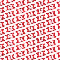 Pattern background movie ticket icon