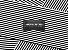 Abstract black and white op art stripe line pattern design. illustration vector eps10