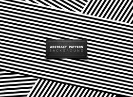 Abstract black and white op art stripe line pattern design. illustration vector eps10