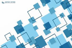 Moderner blauer quadratischer geometrischer Musterhintergrund der abstrakten Technologie. Sie können für Anzeige, Plakat, Unternehmenspräsentation, Geschäftsbericht, Cover-Design verwenden.